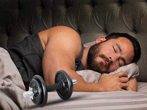 افزایش سایز عضلات در خواب